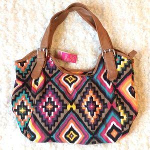Ardene western patterned shoulder bag